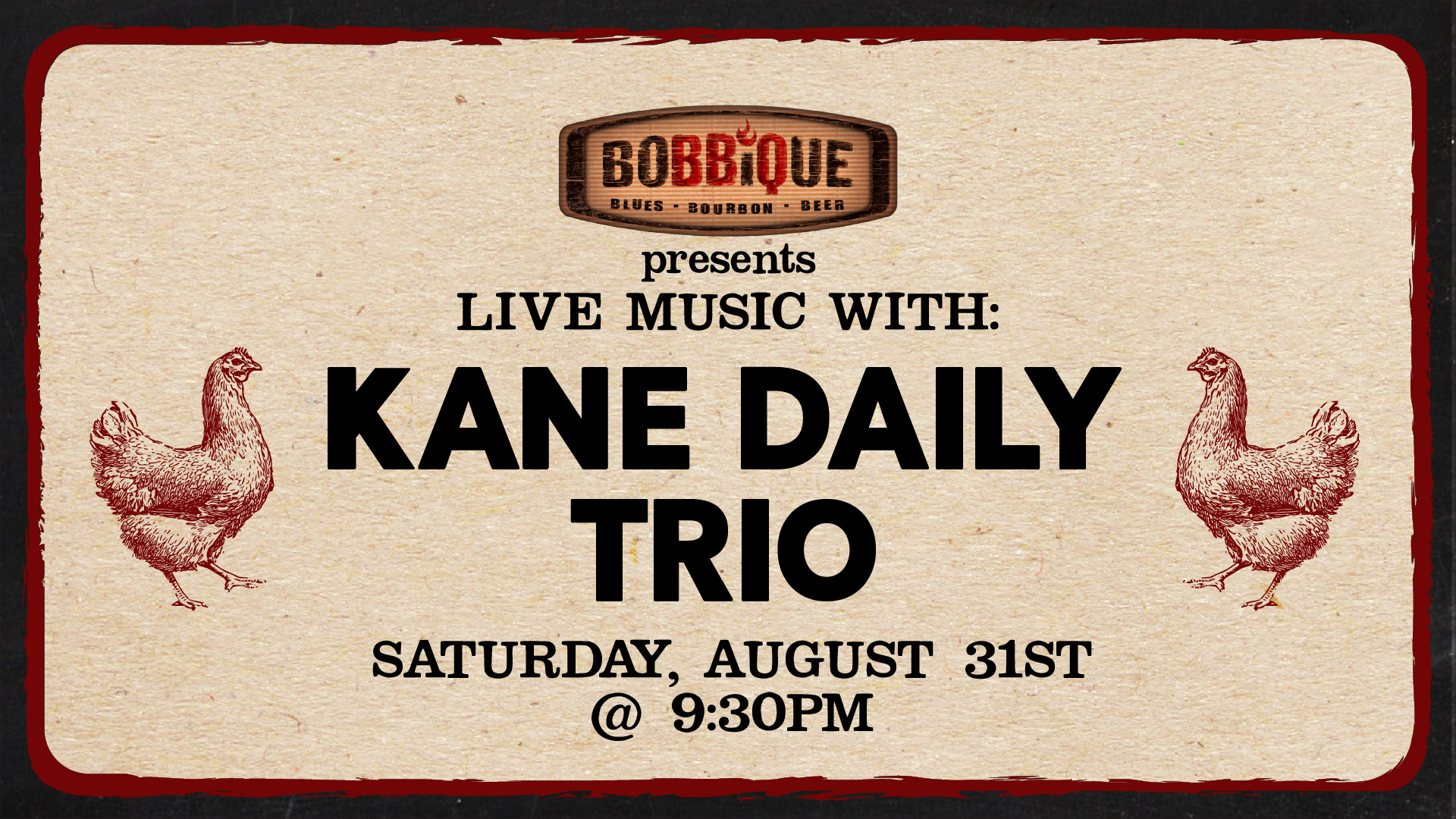 Live Music with Kane Daily Trio