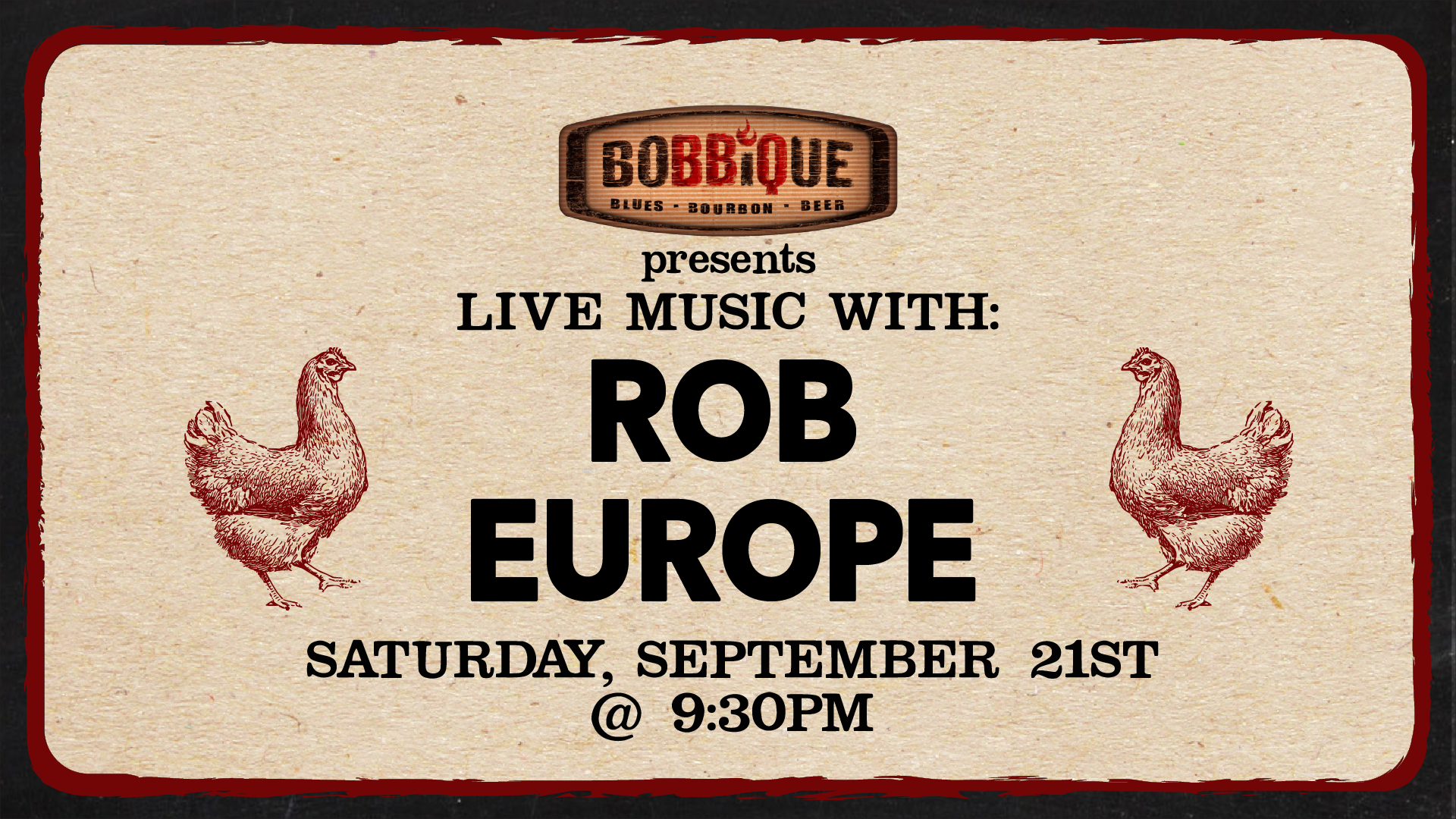 Live Music with Rob Europe