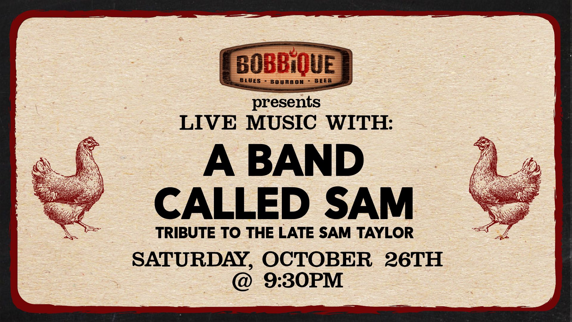 Live Music with A Band Called Sam