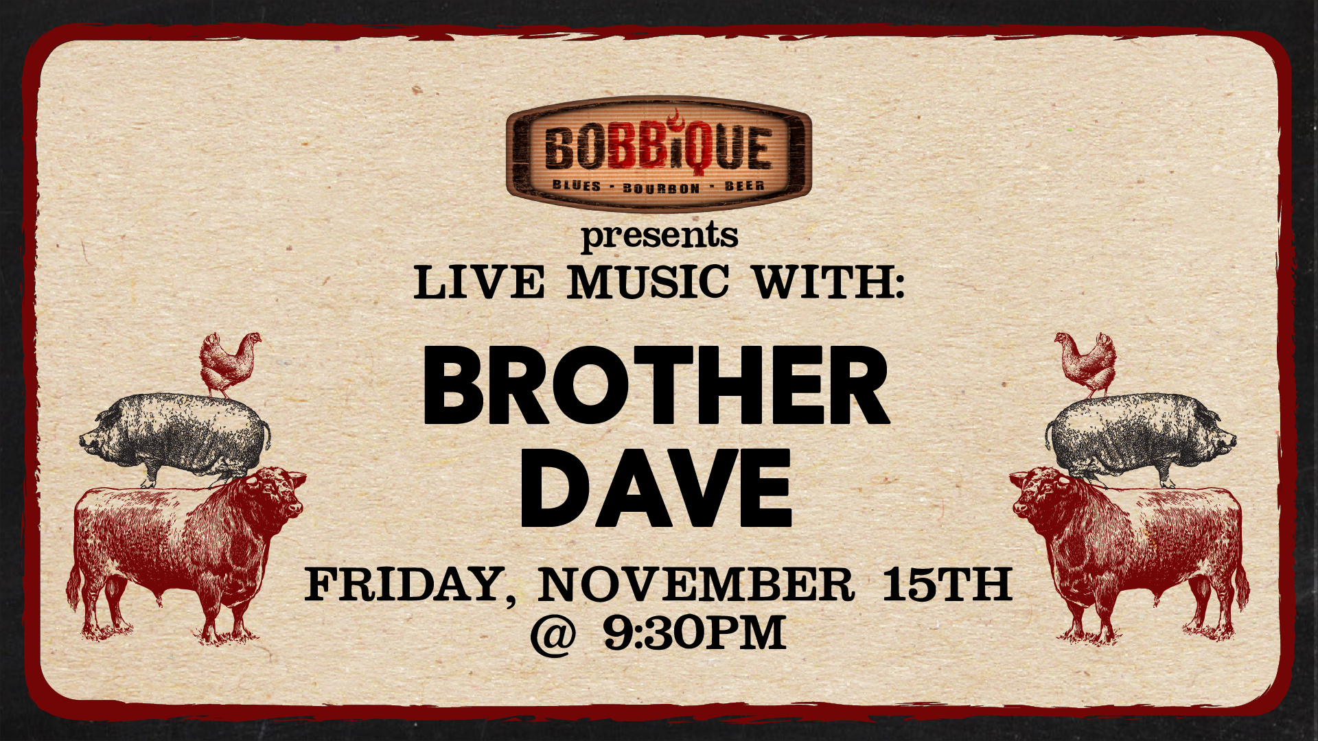 Live Music with Brother Dave