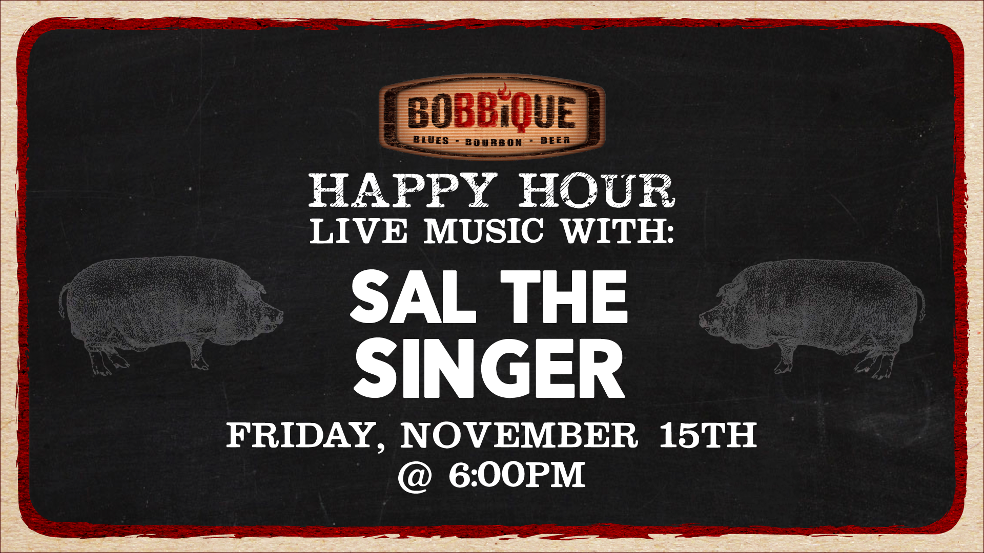 Happy Hour with Sal The Singer