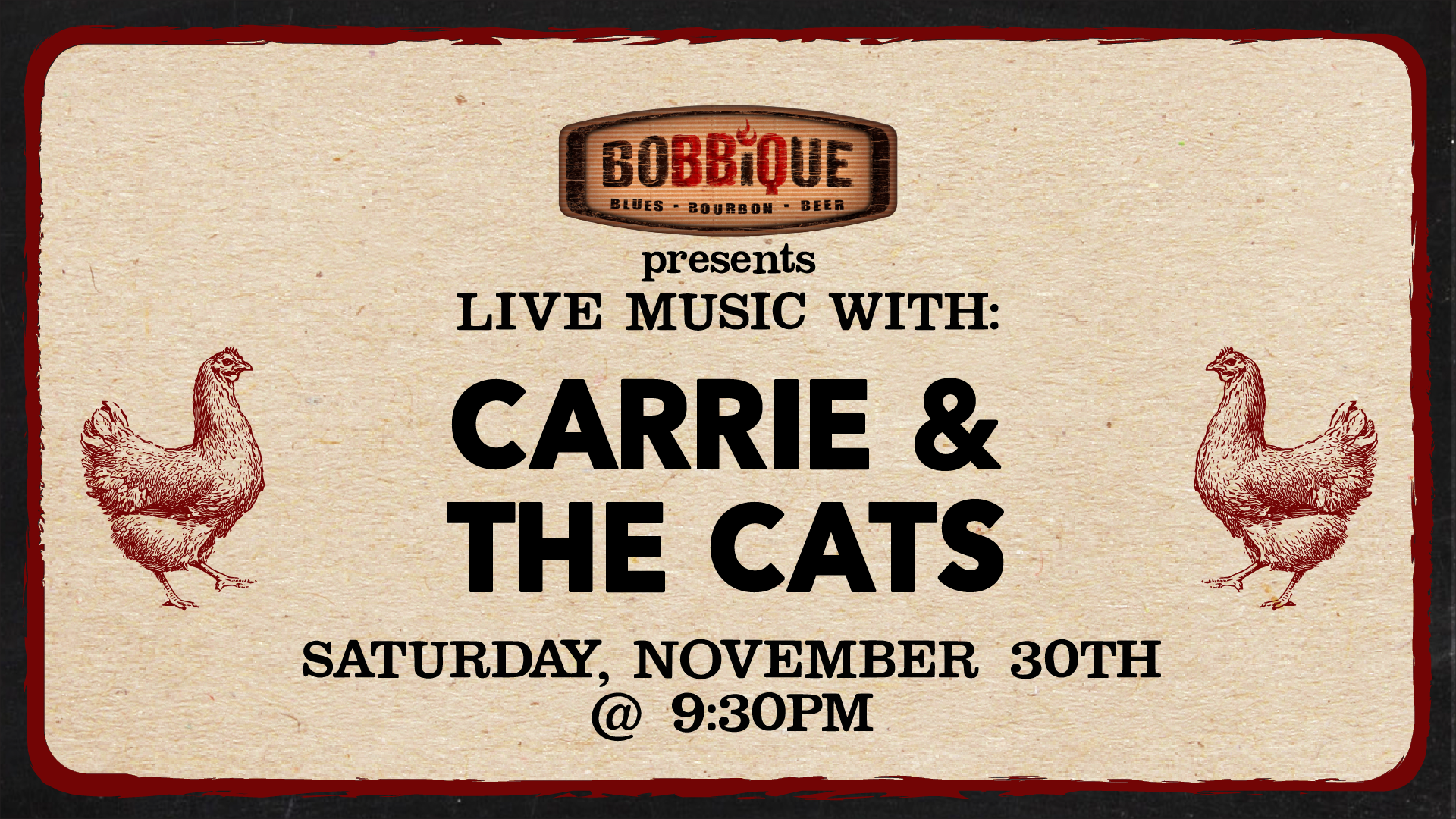 Live Music With Carrie and The Cats