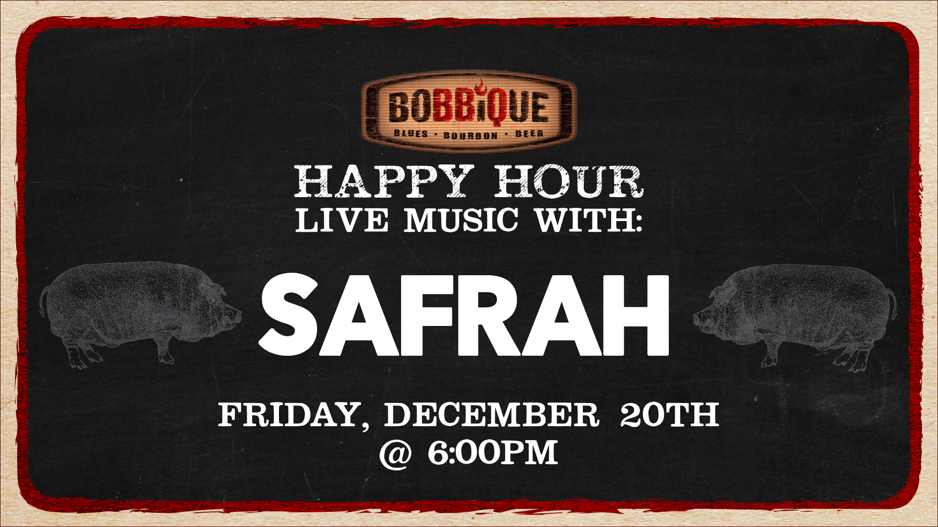 Happy Hour with Safrah