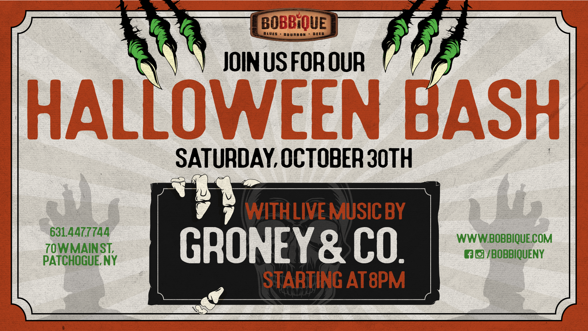 Halloween Bash with Groney & Co.